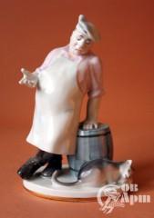 "Скульптура ""Повар и кот"""